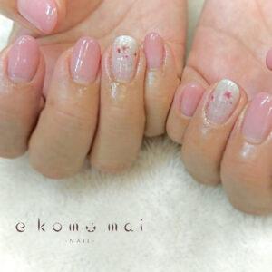 ジェルネイル 桜ネイル