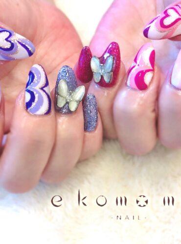 蝶々ネイル